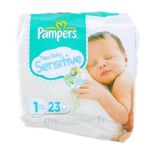 PAMPERS COUCHES NEW BABY SENSITIVE TAILLE 1 2-5 KG x 23 à PARIS