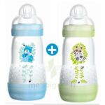 MAM BIBERON EASY START anti-colique 260 ml lot de 2_ BLEU & VERT à PARIS