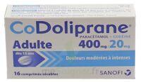 CODOLIPRANE ADULTES 400 mg/20 mg, comprimé sécable à PARIS