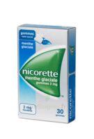 NICORETTE MENTHE GLACIALE 2 mg SANS SUCRE, gomme à mâcher médicamenteuse édulcorée au xylitol et à l'acésulfame potassique à PARIS