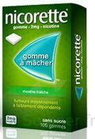 NICORETTE MENTHE FRAICHE 2 mg SANS SUCRE, gomme à mâcher médicamenteuse édulcorée au xylitol et à l'acésulfame potassique à PARIS