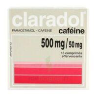 CLARADOL CAFEINE 500 mg/50 mg, comprimé effervescent à PARIS